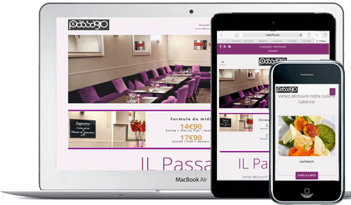 Developpement-sites-internet-restaurant-cuisine-Il passagio