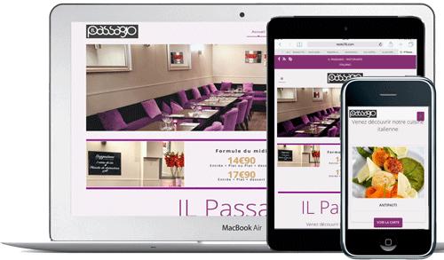 Developpement-sites-internet-restaurant-cuisine-Il passagio